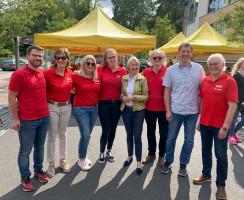 Gruppenfoto auf dem SPD Sommerfest in Sailauf