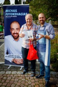 Wahlkampfveranstaltung in der Sailaufer Ortsmitte